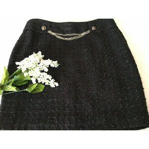 New White House Black Market Black Skirt Size 8